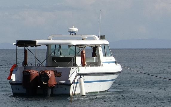 Our speedboat used for hotel excursions